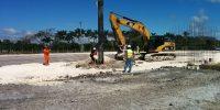 Belize Roadway Construction access road and oil site preparation
