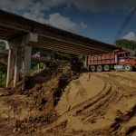 bridge truck excavator